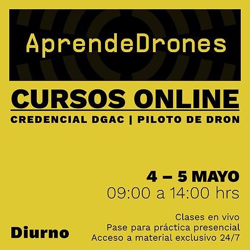 Obtención credencial DGAC ONLINE 04 y 05 Mayo Diurno