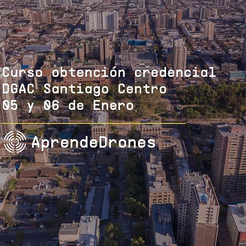 Obtención credencial DGAC Santiago Centro 05 y 06 de Enero
