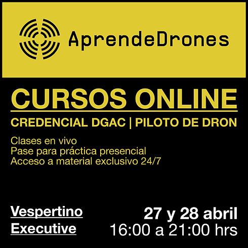 Obtención credencial DGAC ONLINE 27 y 28 de Abril Vespertino