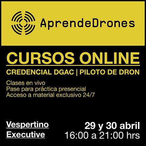 Obtención credencial DGAC ONLINE 29 y 30 de Abril Vespertino