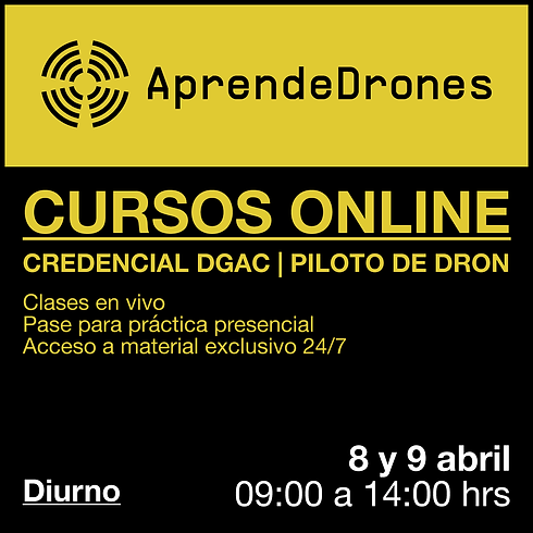 Obtención credencial DGAC ONLINE 08 y 09 de Abril Diurno