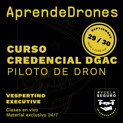 Obtención credencial DGAC ONLINE 29 y 30 de Septiembre Vespertino Executive