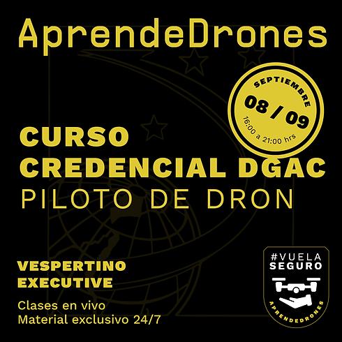 Obtención credencial DGAC ONLINE 08 y 09 de Septiembre Vespertino Executive