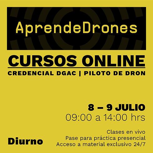 Obtención credencial DGAC ONLINE 08 y 09 de JULIO Diurno