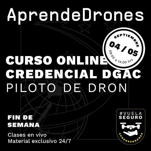 Obtención credencial DGAC ONLINE 04  y 05 de Septiembre Fin de Semana