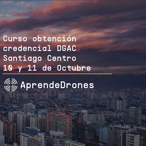 Obtención credencial DGAC Santiago Centro 10 y 11 de Octubre