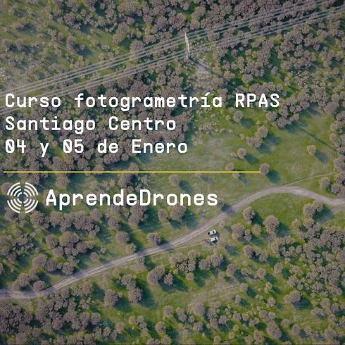 Fotogrametría RPAS Santiago Centro 04 y 05 de Enero