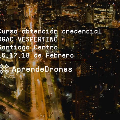 Obtención credencial DGAC VESPERTINO Santiago Centro 16,17,18 de Febrero