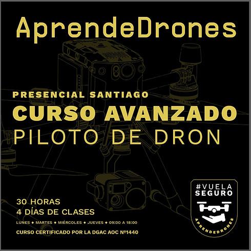 Curso AVANZADO de Drones 08 09 10 11 de Noviembre PRESENCIAL SANTIAGO