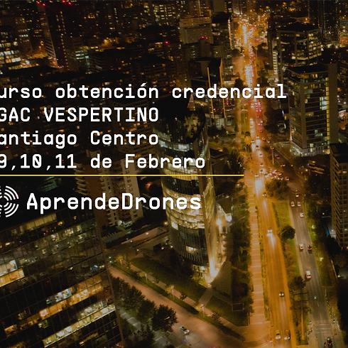 Obtención credencial DGAC VESPERTINO Santiago Centro 09,10,11 de Febrero