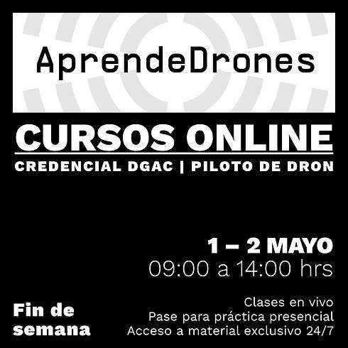 Obtención credencial DGAC ONLINE 01 y 02 de Mayo Fin de Semana