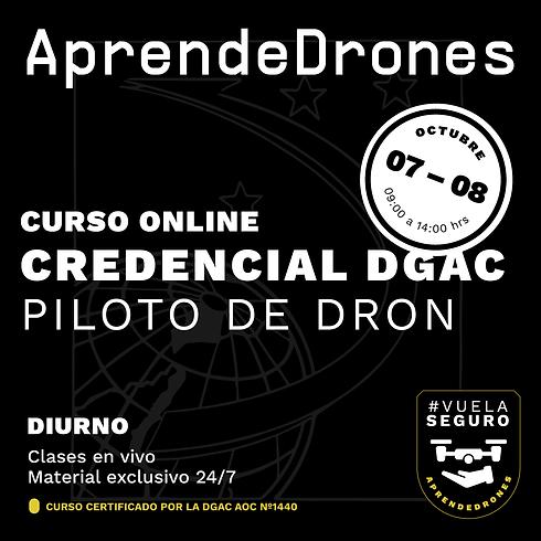 Obtención credencial DGAC ONLINE 07 y 08  de Octubre Diurno