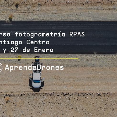 Fotogrametría RPAS Santiago Centro 26 y 27 de Enero
