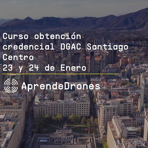Obtención credencial DGAC Santiago Centro 23 y 24 de Enero