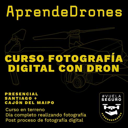 Fotografía con Dron y Revelado Digital Santiago Centro 02 y 03 de Octubre