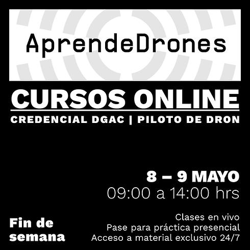 Obtención credencial DGAC ONLINE 08 y 09 de Mayo Fin de Semana