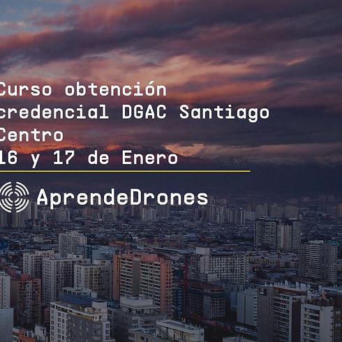 Obtención credencial DGAC Santiago Centro 16 y 17 de Enero