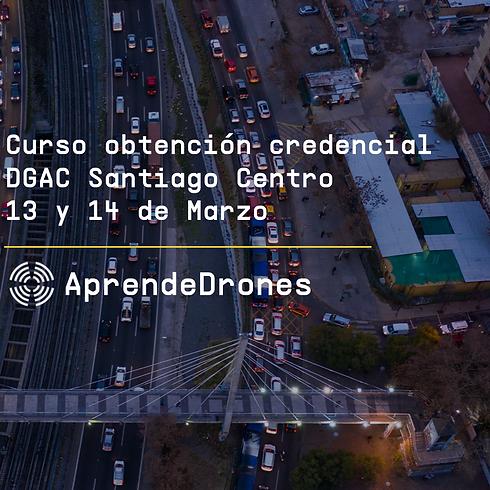 Obtención credencial DGAC Santiago Centro 13 y 14 de Marzo