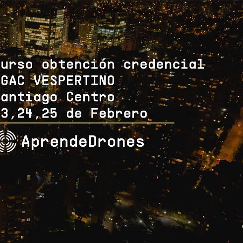 Obtención credencial DGAC VESPERTINO Santiago Centro 23,24,25 de Febrero
