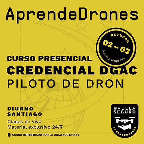 Obtención credencial DGAC Santiago Centro 02 y 03 de Octubre  PRESENCIAL