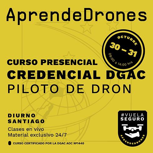 Obtención credencial DGAC Santiago Centro 30 y 31 de Octubre  PRESENCIAL