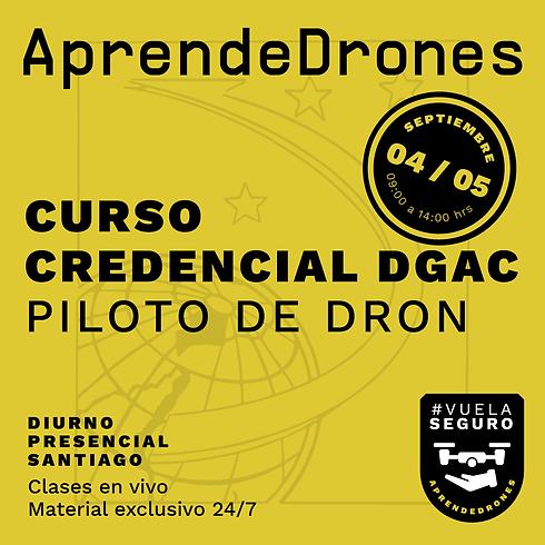 Obtención credencial DGAC Santiago Centro 04 y 05 de Septiembre PRESENCIAL