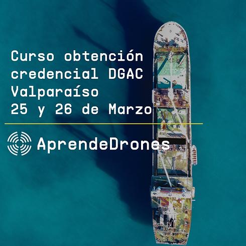 Obtención credencial DGAC Valparaíso 25 y 26 de Marzo