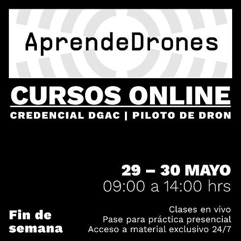 Obtención credencial DGAC ONLINE 29 y 30 de Mayo Fin de Semana