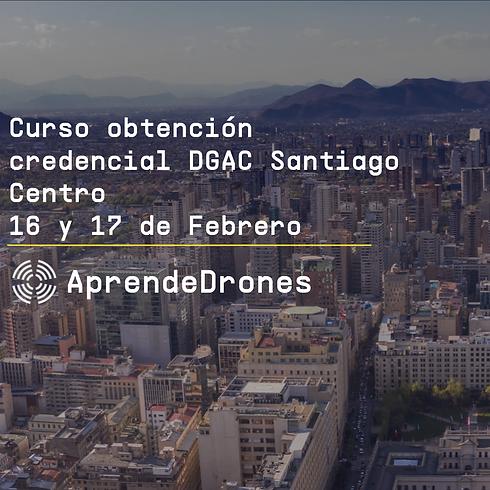 Obtención credencial DGAC Santiago Centro 16 y 17 de Febrero