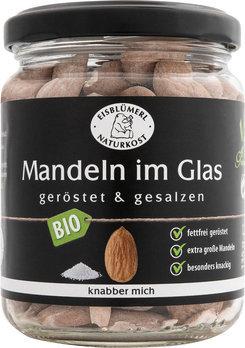 Mandeln im Glas, geröstet und gesalzen, 135g BIO