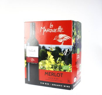 La Marouette rouge Merlot Bag-in-Box 3 Liter, Bio