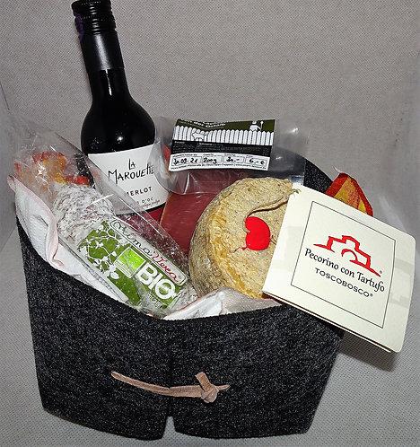 Exclusiver Geschenkkorb mit Rauchfleisch und ital. Spezialitäten