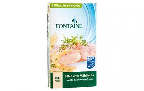 Fontaine Wildlachs-Filet in Bio-Senf-Honig-Creme, 200g