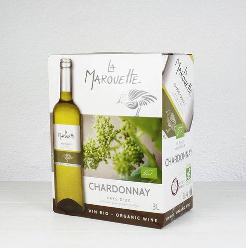 La Marouette Chardonnay Bag-in-Box 3 Liter, Bio