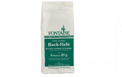 Feine Trocken-Backhefe von Fontaine, 6 Beutel a' 20g