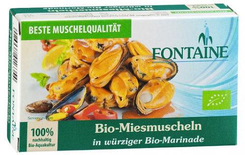 Fontaine Bio-Miesmuscheln in würziger Bio-Marinade, 125g