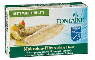 Fontaine Makrelenfilets in Bio Sonnenblumenöl , 120g