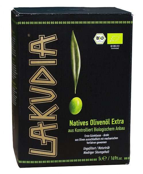 5l Lakudia extra natives naturreines Olivenöl Bag in Box, BIO