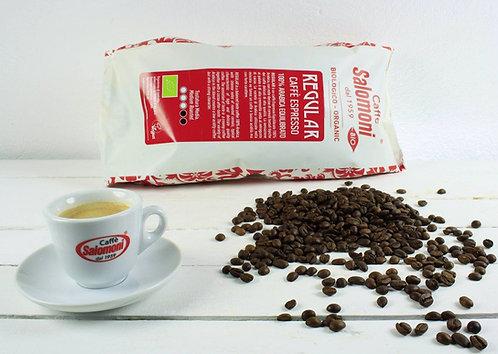 Espresso Regular, ganze Bohnen, Salomoni kbA