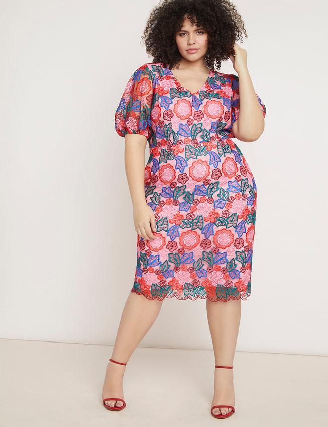 Puff Sleeve Lace Dress