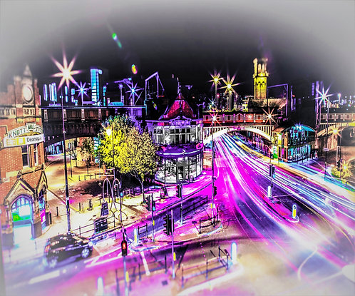 Manchester Deansgate Lights
