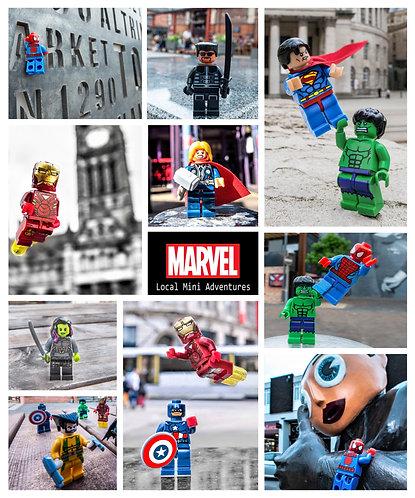 Marvel Montage - Manchester & Altrincham (Lego Minifigures)