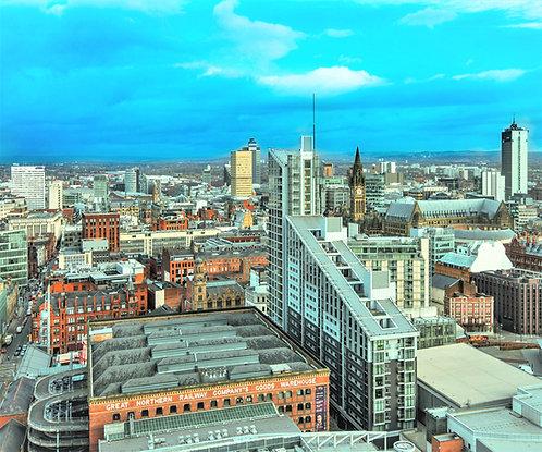 Manchester Skyline City Centre Daytime
