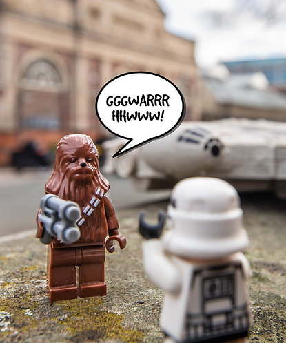 Chewbacca & Storm Trooper Star Wars - Altrincham (Lego Minifigures)