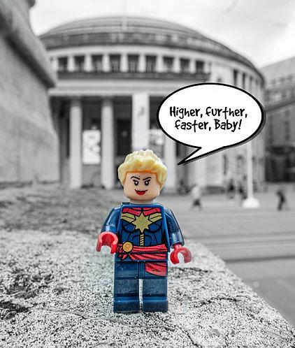 Captain Marvel - Manchester (Lego Minifigures)