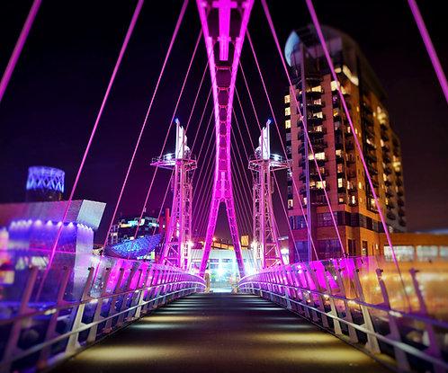 Salford Quays Millennium Bridge