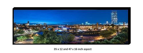Manchester Castlefield Panoramic Aluminium Box Panel Print