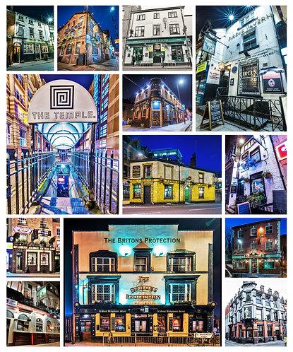 Pubs Montage Portrait (Manchester)