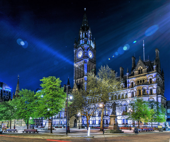 Manchester Town Hall Nights