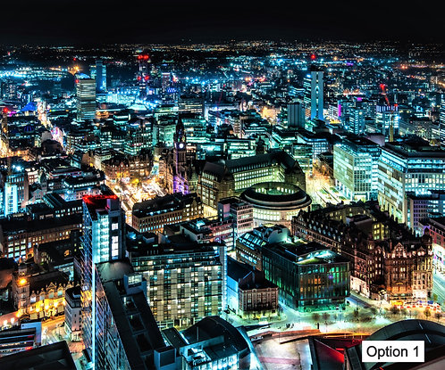 Manchester Skyline at Night (12 options)